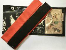Set of 2 Vintage Japanese Kimono Kitsuke Haneri Date-eri Collar Covers: Aug-J