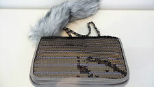 NINE WEST HANDBAG FURRY TAIL AND SEQUINS
