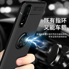 For Oppo Find X2 Pro, 3in1 Shockproof Soft TPU Armor Ring Car Holder Case +glass