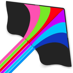 Stoie's Huge Rainbow Kite for Kids and Adults–1.6M Wide–100 Meter String–Rainbow