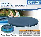Intex 8 Foot Easy Set Above Ground Swimming Pool Debris Vinyl Round Cover Tarp