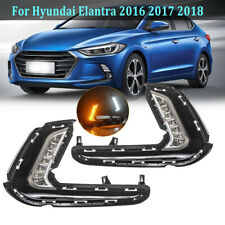 DRL Daytime Running Lamp For Hyundai Elantra 2016-2018 LED Fog Light Turn Signal