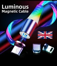🇬🇧MAGNETIC LED Flowing Light up Charge Cable for iPhone/Samsung/Mobile Phone