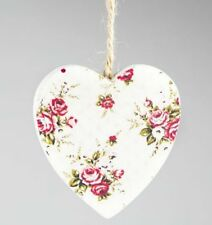 Heart French Country Floral Decorative Plaques & Signs
