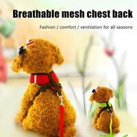Breathable Nylon Mesh Small Dog Cat Pet Harness and Leash Set Puppy Vest Z6V2
