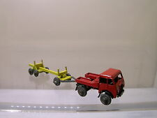 BENBROS 8 195 1950s FODEN TRACTOR & LOGTRAILER RED/YELLOW SCALE 1:60