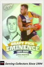 2013 Select AFL Prime Draft Pick Eminence Card DPE96 Chris Masten (West Coast)