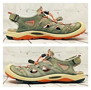 ECCO BIOM Men's Size 41 Yak Leather Sport Fisherman Comfort Sandal Ankle Strap