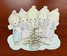 Vintage 1976 Betsey Clark cardboard Die Cut Christmas Angels Decoration