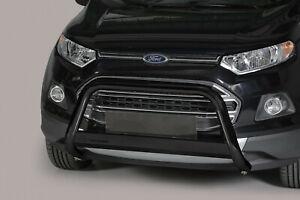 Frontbügel aus Edelstahl für Ford Ecosport 2014-2018 - ø 63mm ABE Mattschwarz