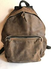 Vintage EASTPAK Brown Leather Backpack Book Bag
