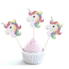 24Pcs Unicorn Cupcake Topper Cake Picks Flags Wedding Birthday Party Decoration