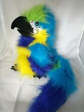 The Puppet Company Macaw Parrot Hand Puppet with Squeak/Squark