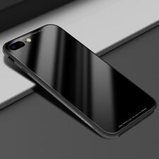For iPhone X Black Aluminum Metal Bumper + Tempered Glass Soft Back Case Cover