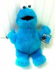 "Sesame Street Cookie Monster Plush Blue 15"" Stuffed Animal Soft Toy"