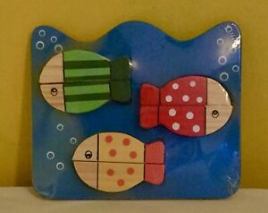 NEW baby toy,wooden,child,puzzle,jigsaw,game,toddler,childrens,activity,fish,sea