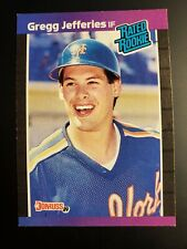 GREG JEFFERIES 1989 Donruss Rated Rookie baseball card #35 mint codition