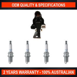 Pack of SWAN Ignition Coils & NGK Spark Plug for Mazda 121 B3 (1.3L CFi)