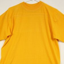 New listing Vtg Sport-T by Stedman Yellow T-Shirt Mens Large 80s 90s Top Stitch Blank New