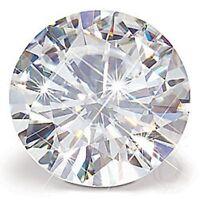 Unique 0.50 ct 5.0 mm White Round Cut Loose Moissanite Diamond VVS1/HI