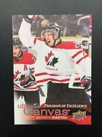 ANTHONY MANTHA 2016-17 UD CANVAS PROGRAM OF EXCELLENCE ROOKIE CARD❗️SEND OFFER❗️