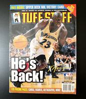 "December 2001 Tuff Stuff Magazine Michael Jordan ""He's Back."""