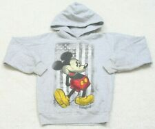 Disney Mickey Mouse Gray Graphic Hooded Sweatshirt Top Hoodie Large Cotton Poly