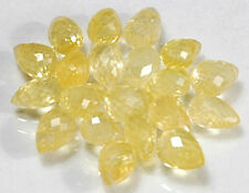 WE SELL QUALITY! NATURAL YELLOW HIGH SPARKLE SAPPHIRE BRIOLETTES/drilled/2286C23