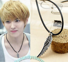 Korean Fashion EXO KRIS Antique Flying Wing Style Leather Necklace Made in Korea