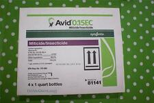 Four (4)--Avid 0.15 EC Miticide/Insecticide Quarts Fast Free Shipping