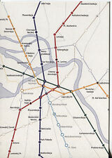 OVER SIZE POST CARD WITH MAP OF THE SAINT PETERSBURG SUBWAY WITH STOPS & LINES