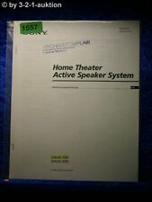 Sony Operating Instructions SAVA 700/500 Active Speaker System (#1557)