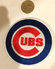 """Chicago Cubs embroidered iron on patch 3 1/2"""" Round Retro/ Vintage Look!"""