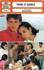 Movie Card. Fiche Cinéma. Pierre et Djemila (France) Gérard Blain 1987