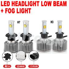 4x LED Low Beam Headlight & Fog Light Bulb Combo H7 & H3 E 6000K Super White