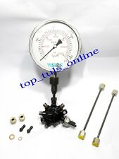 Spherical Common Fuel Rail with 2100 Bar High Pressure Gauge & 4 Pressure Pipes