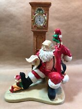 1995 Howard Miller Clock Santa Figurine Limited Edition Checkin' It Twice