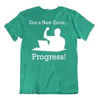 New Error Tshirt Programmer Coder Humor T-Shirt Computer Progress Tee