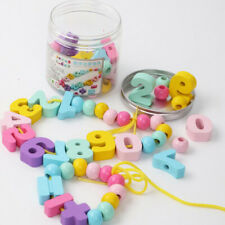 New listing Toy Enlightenment Digital Bead Child Education Gift Threaded Building Blocks Oo
