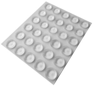 30 Clear Self Adhesive Flat Rubber Feet, Bumper Stops for Chopping Boards & More