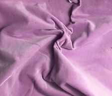 """Hand Dyed Cotton VELVETEEN Fabric LILAC - 54"""" by the yard"""