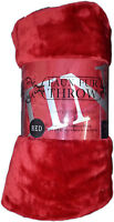 Large Luxury Red Soft Mink Faux Fur Throw Blanket - Bed Sofa Home Double King