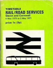 Timetable, RAIL/ROAD SERVICES, Devon and Cornwall, 4 May 1970 to 2 May 1971