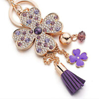 Crystal Rhinestone Keyring Charm Pendant Purse Bag Key Ring Chain Keychain