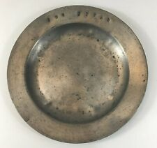 Antique Continental Pewter Plate/Dish Makers Marks Stamped Letters 24cm Diameter