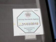 DRIVING SCHOOL ADI BADGE HOLDER CLIP 3M ADHESIVE PAD IDEAL 4 LAMINATED BADGE
