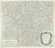 1753 Vaugondy Map of the County of Tyrol, Italy and Austria