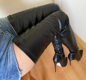 Sexy Extreme Long Stiefel Schenkelhoch Overknee High Heels gr.42 Damenstiefel