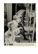 Vintage 1949 Shelley Winters Mirror Reflections Fish Net Hose Camera Ad Print