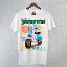 T-Shirt Uomo Lambretta Innocenti 50 125 150 Vintage Italy Style Scooter Vespa